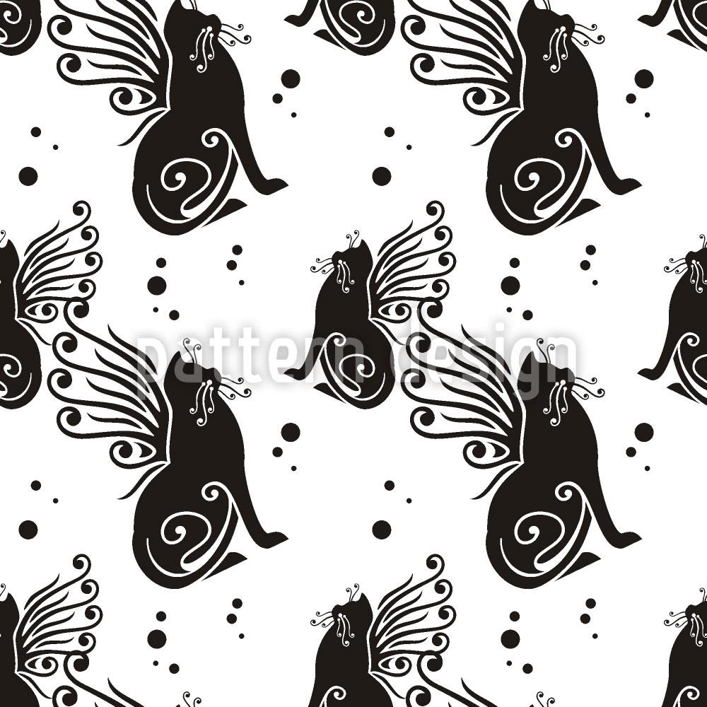 Designtapete Katzen Haben Flügel