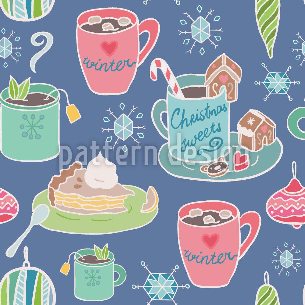 Designtapete Ich Wünsch Mir Einen Weihnachtspunsch