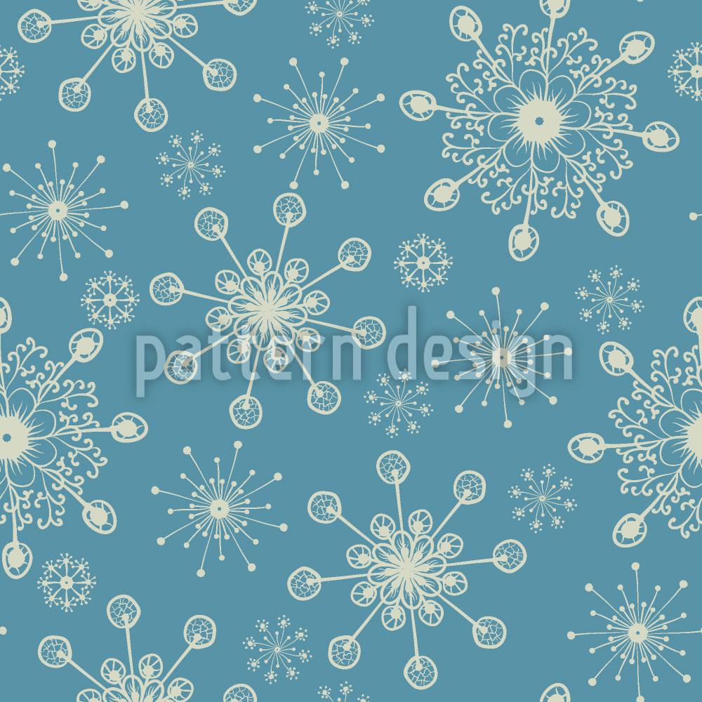 Designtapete Fantasie Schneeflocken