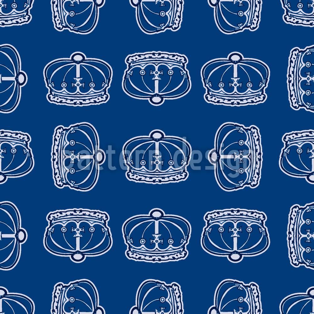 Designtapete Corona Blau