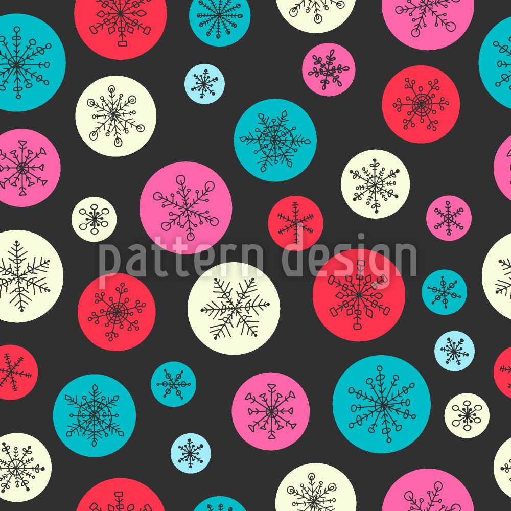 Designtapete Schneeflocken Blasen