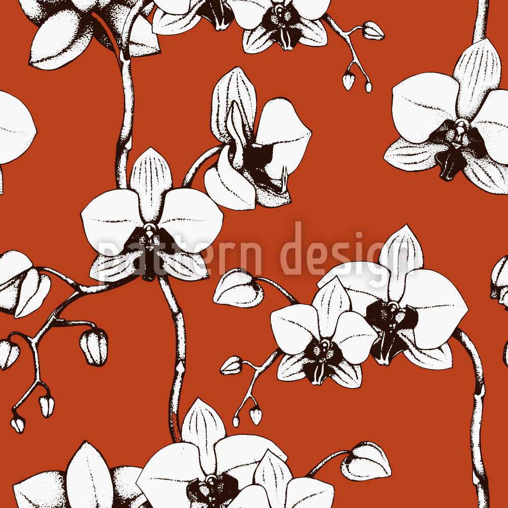 Designtapete Blut Orchidee