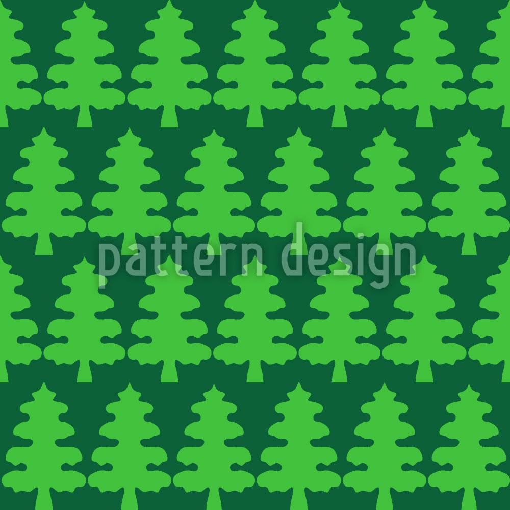Designtapete Weihnachtsbaum Wald