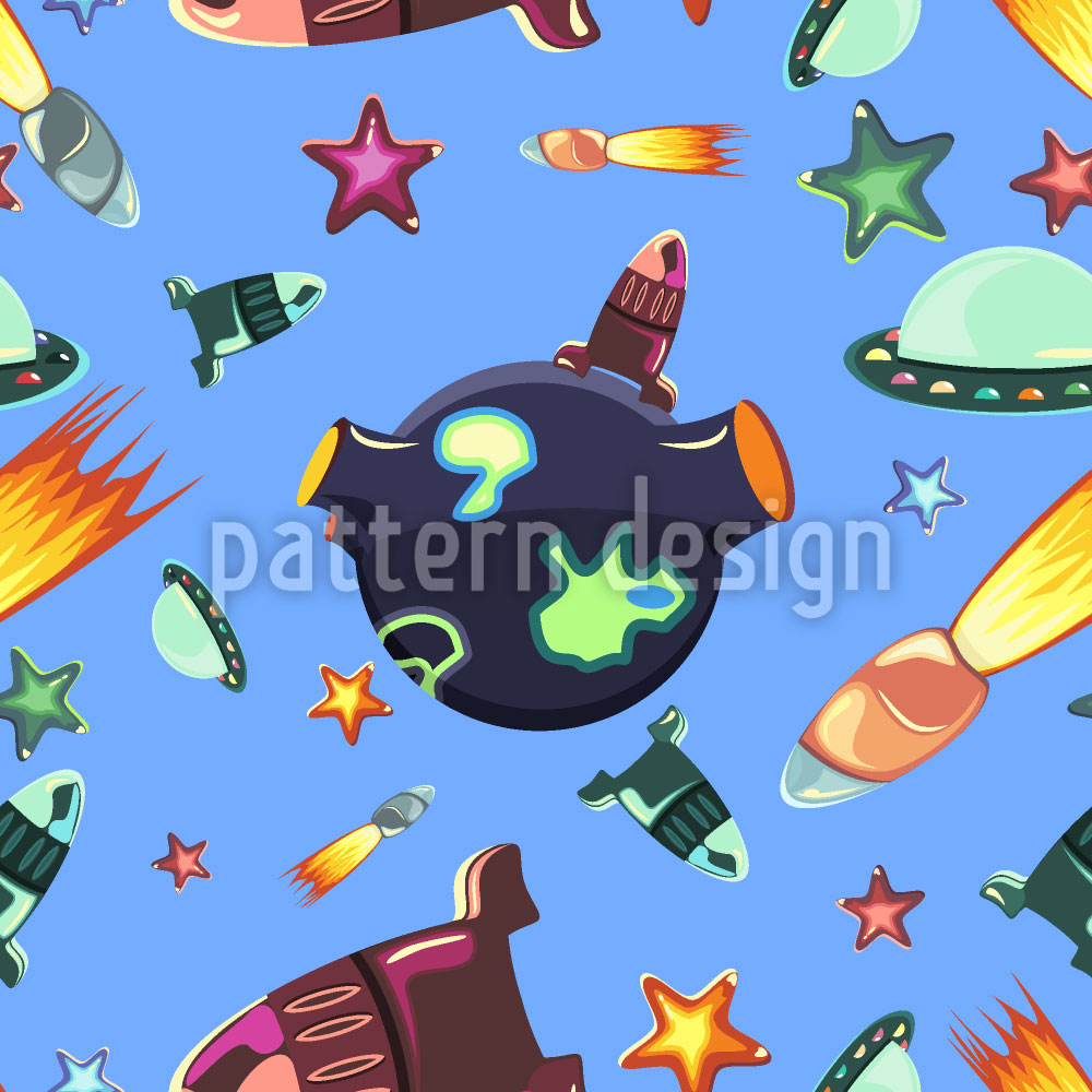 Designtapete Weltraum Reisende