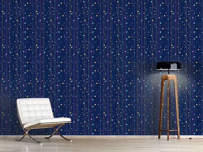 Designtapete Sternen Stränge