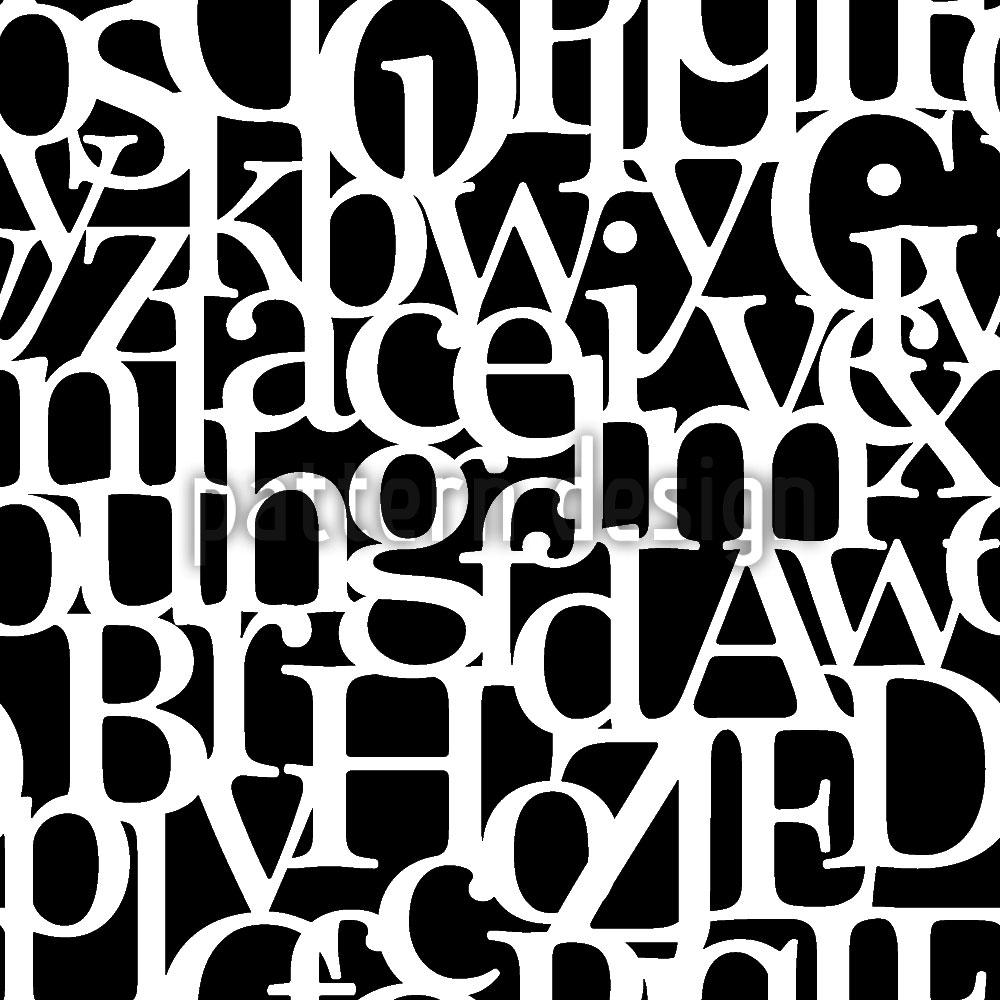 Designtapete Buchstabenverbund