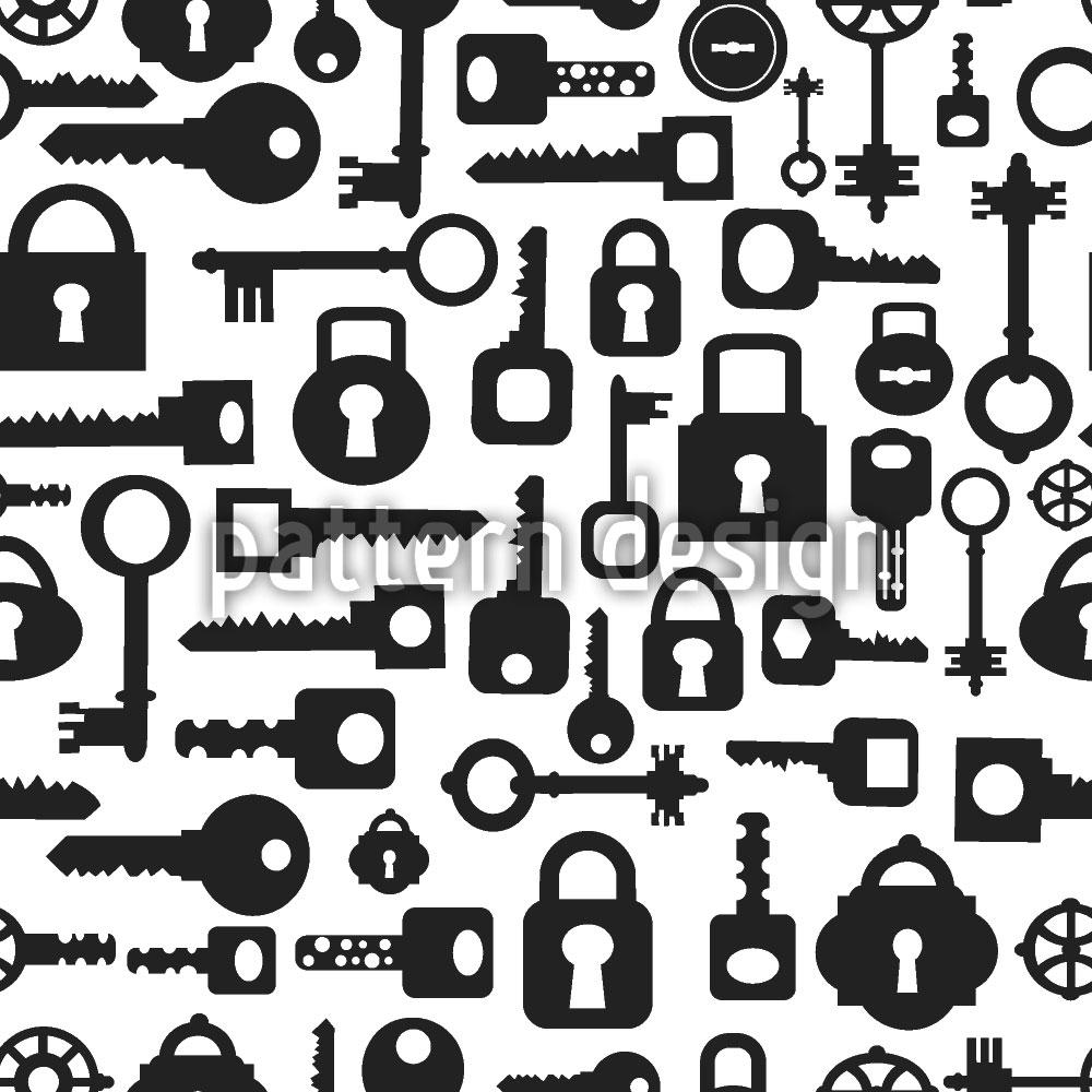 Designtapete Schlüssel und Schloss