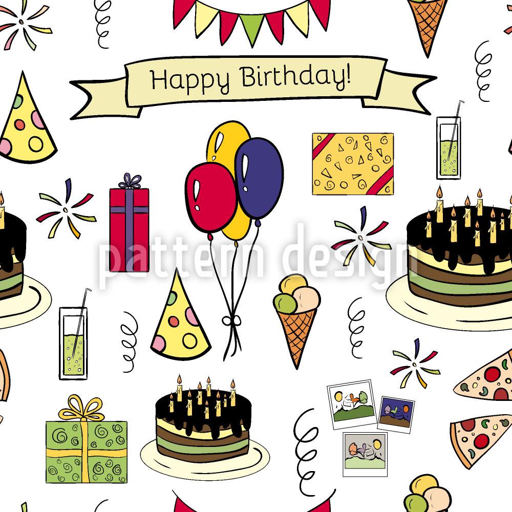 Designtapete Alles Gute zum Geburtstag