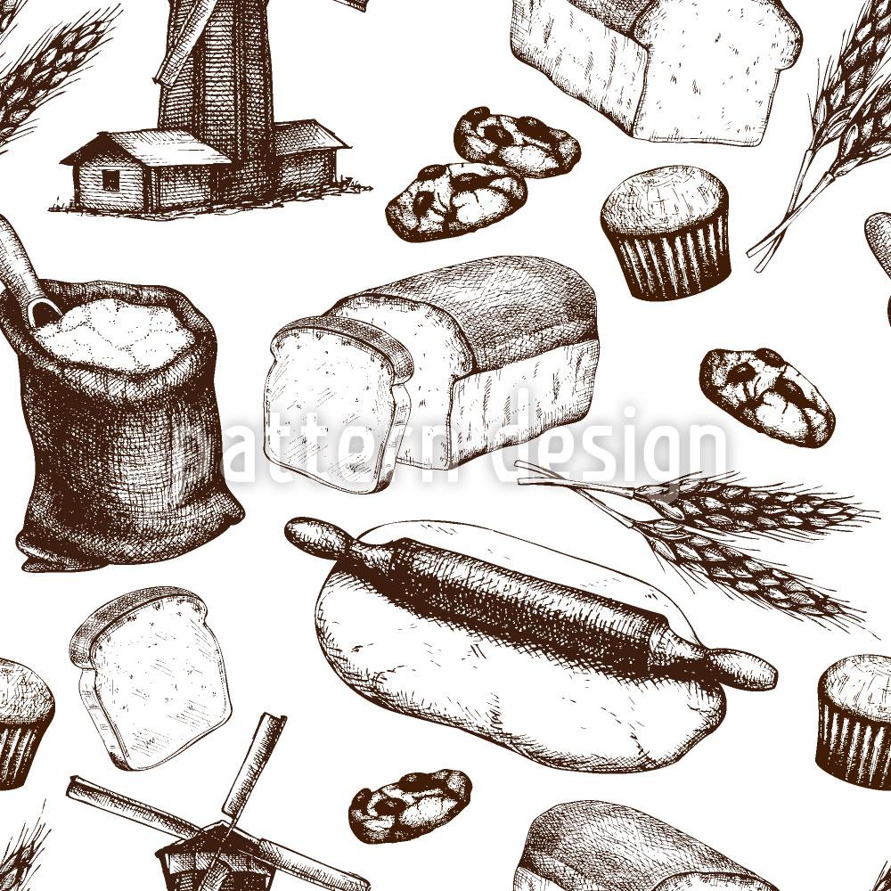 Designtapete Vom Korn zum Brot