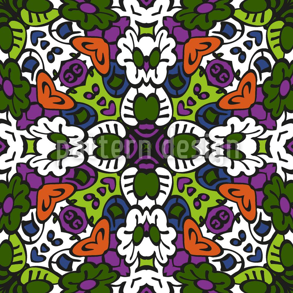 Designtapete Stammes Kaleidoskop