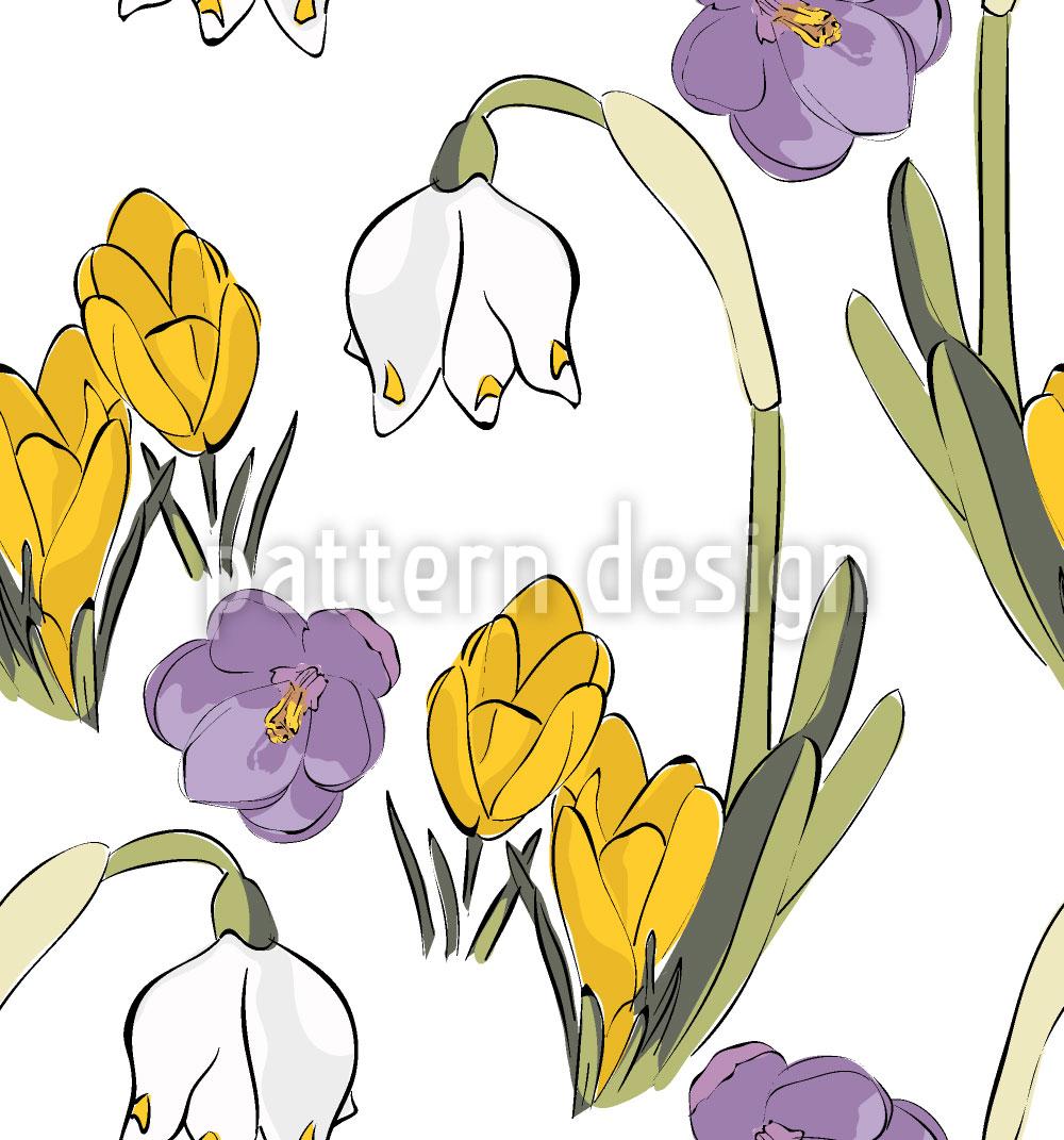 Designtapete Frühlings Mix