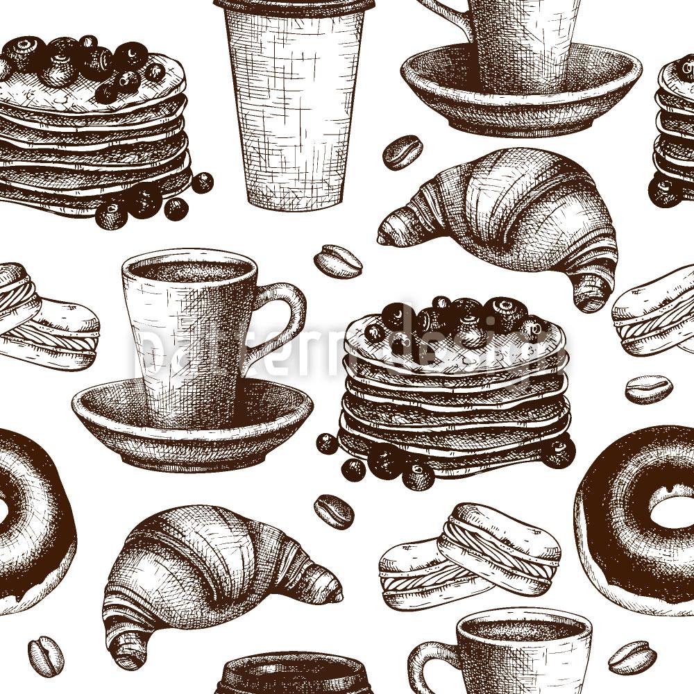 Designtapete Vintage Kaffeepause