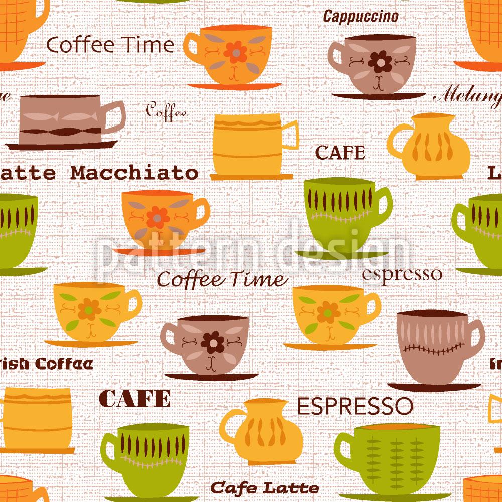 Designtapete Meine Kaffeetassen
