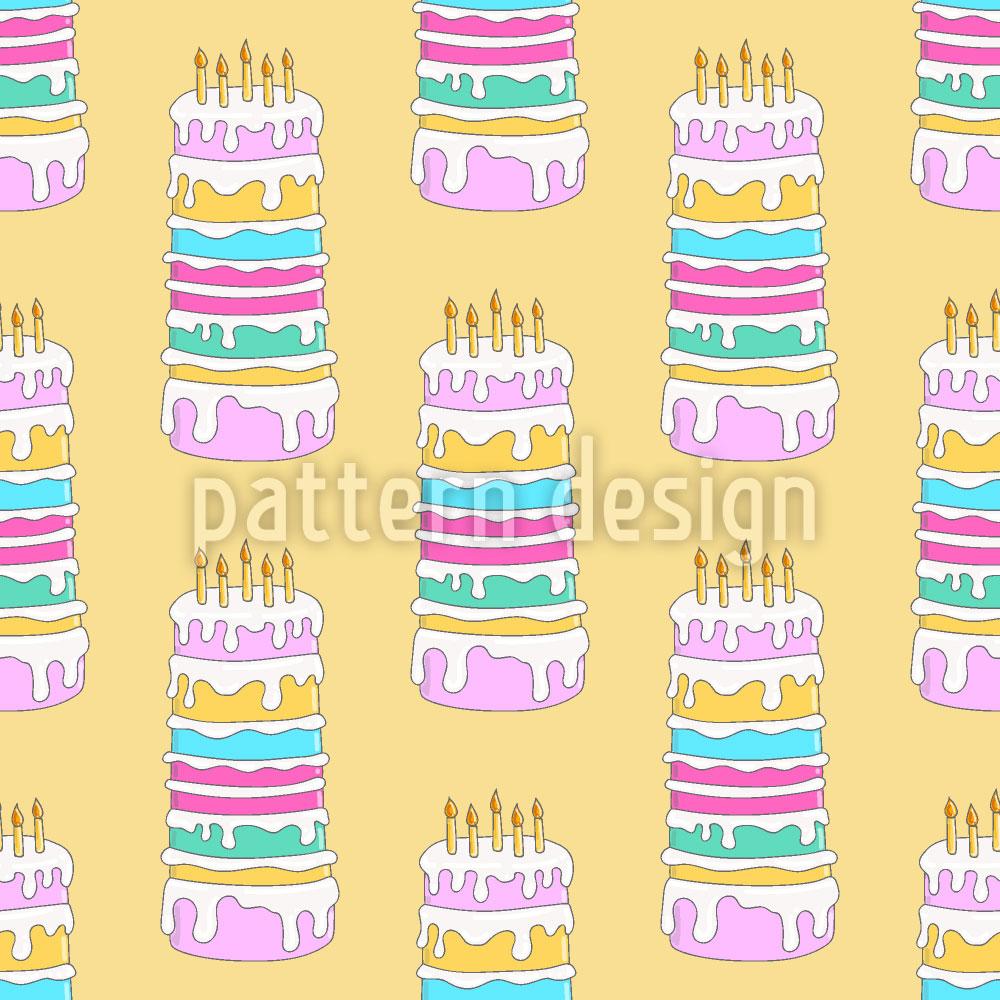 Designtapete Geburtstags Kuchen