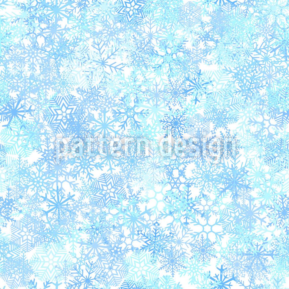 Designtapete Eiskristall Schichten