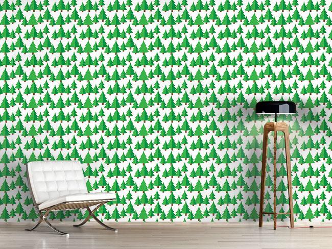 Designtapete Tannen Wald