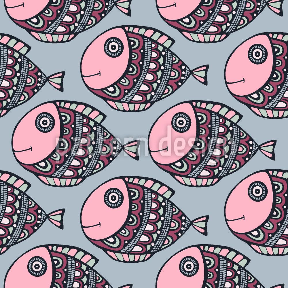 Designtapete Lustige Fisch Reise