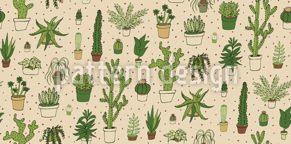 Designtapete Kaktus Sammlung