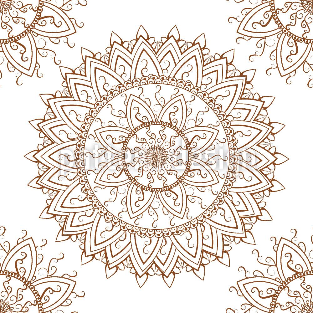 Designtapete Spitzen Mandala