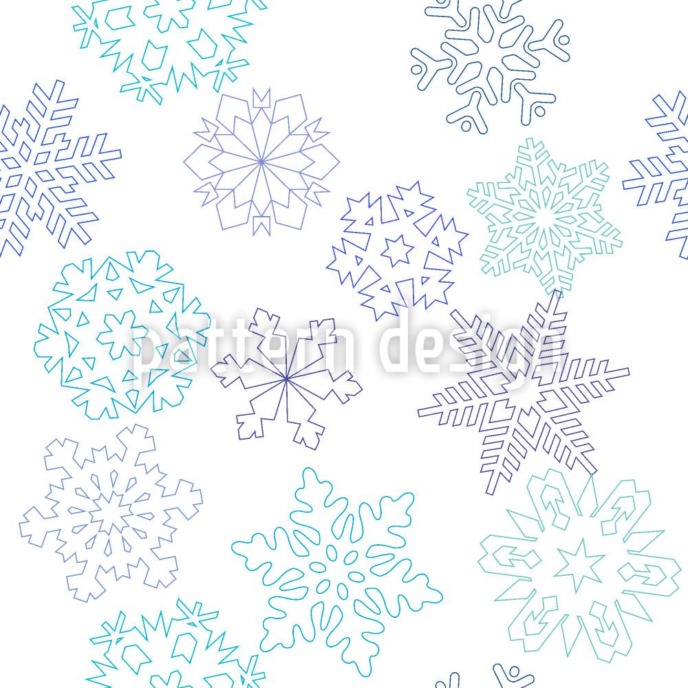 Designtapete Scherenschnitt Schneeflocke
