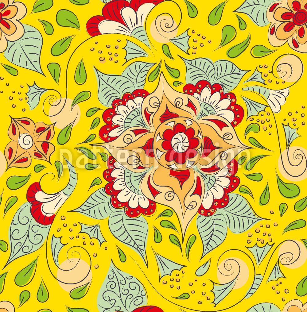 Designtapete Mehndi Doodle