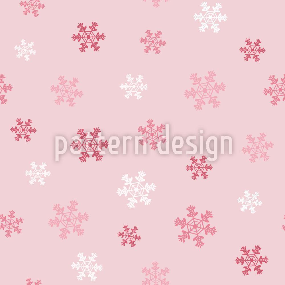 Designtapete Winter Schneeflocken Liebe
