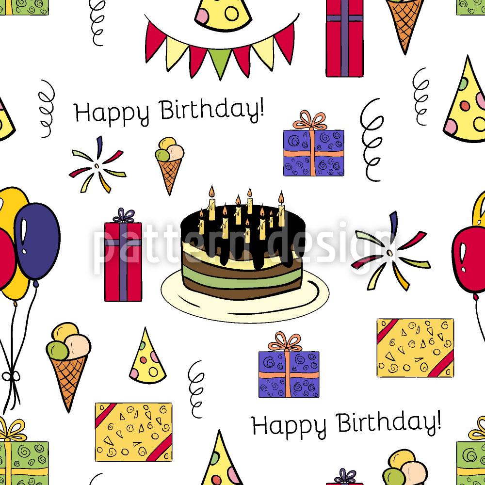 Designtapete Geburtstagsfeier