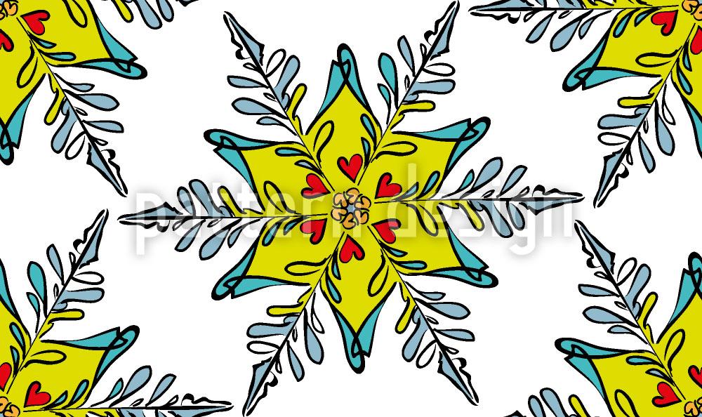Designtapete Festliche Schneeflocke