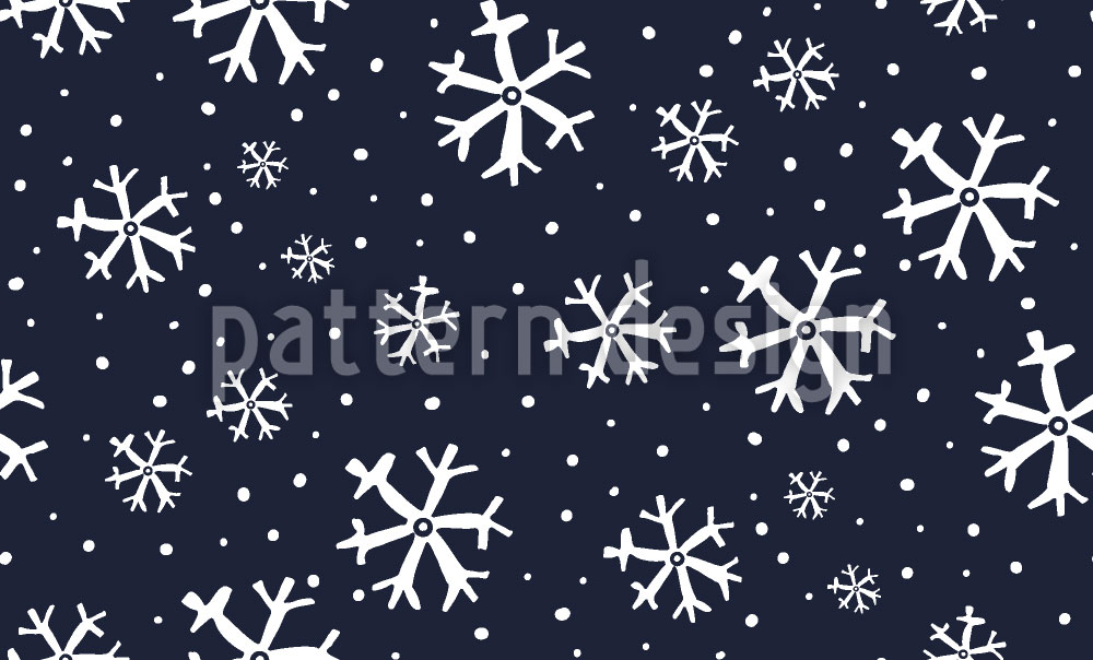 Designtapete Verschneite Nacht