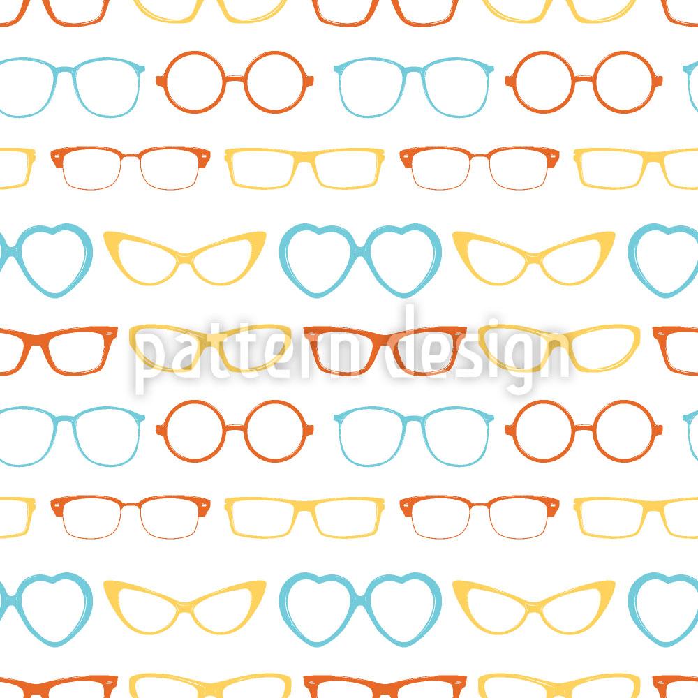 Designtapete Hipster Brillen